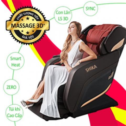 Ghế Massage Cao Cấp Shika SK-8918 Đỏ