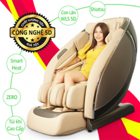 Ghế massage Shika 5D Cao cấp SK-119 GREY